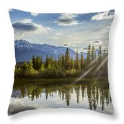 Jasper Glory Rocky Mountain View Throw Pillow
