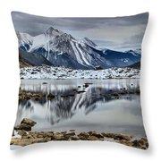 Jasper Medicine Lake Reflections Throw Pillow