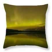 Jasper National Park Aurora Borealis Throw Pillow