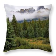 Jasper Peaks Throw Pillow