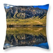 Jasper Pyramid Lake Reflections Throw Pillow