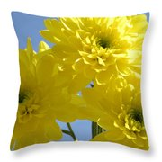 Yellow Trio Throw Pillow