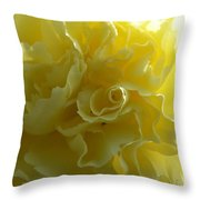 Yellow Waves Throw Pillow