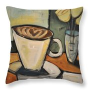 Java Love Throw Pillow