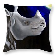 Javan Rhino Throw Pillow