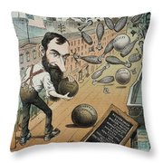 Jay Gould Cartoon, 1882 Throw Pillow