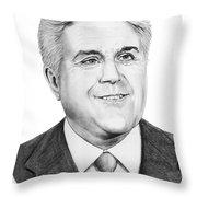 Jay Leno Throw Pillow
