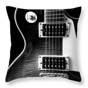 Jay Turser Guitar Bw 4 Throw Pillow