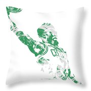 Jaylen Brown Boston Celtics Pixel Art 11 Throw Pillow