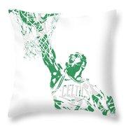 Jaylen Brown Boston Celtics Pixel Art 12 Throw Pillow