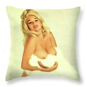Jayne Mansfield, Actress And Pinup Throw Pillow