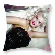 Jayne Mansfield Throw Pillow