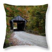 Jaynes Covered Bridge Throw Pillow