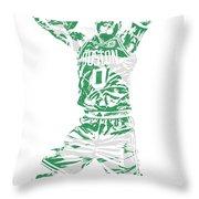 Jayson Tatum Boston Celtics Pixel Art 11 Throw Pillow