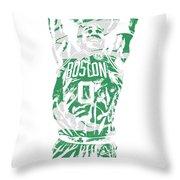 Jayson Tatum Boston Celtics Pixel Art 12 Throw Pillow