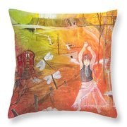 Jayzen - The Little Gypsy Dancer Throw Pillow