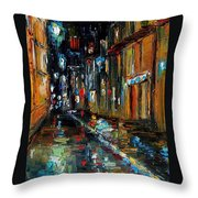 Jazz Alley Throw Pillow