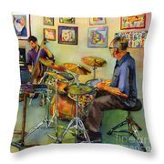 Jazz At The Gallery Throw Pillow