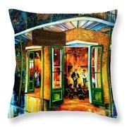 Jazz At The Maison Bourbon Throw Pillow by Diane Millsap