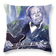 Jazz B B King 01 Throw Pillow