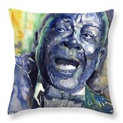 Jazz B.b.king 04 Blue Throw Pillow