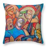 Jazz Ballad Throw Pillow