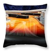 Jazz Bass Beauty Throw Pillow