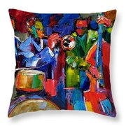 Jazz Beat Throw Pillow