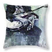Jazz Bluesman John Lee Hooker 04 Throw Pillow
