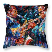 Jazz Brothers Throw Pillow