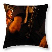 Jazz Clarinet Throw Pillow