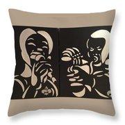 Jazz Duel Throw Pillow