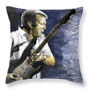 Jazz Eric Clapton 1 Throw Pillow