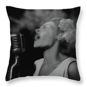 Jazz Great Billie Holiday Throw Pillow