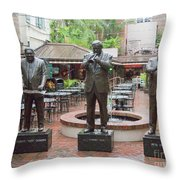 Jazz Greats Al Hirt Fats Domino Pete Fountain Stature New Orleans  Throw Pillow