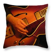 Jazz Guitar  Throw Pillow