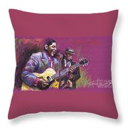Jazz Guitarist Duet Throw Pillow