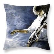 Jazz Guitarist Last Accord Throw Pillow