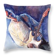 Jazz Guitarist Rene Trossman Throw Pillow