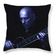 Jazz In Blue Throw Pillow