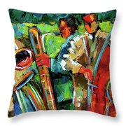 Jazz In The Garden Throw Pillow