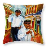 Jazz In The Treme Throw Pillow