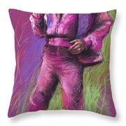 Jazz James Brown Throw Pillow