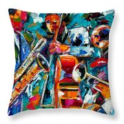 Jazz Magic Throw Pillow