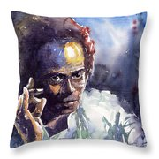 Jazz Miles Davis 11 Throw Pillow