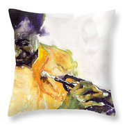 Jazz Miles Davis 7 Throw Pillow
