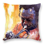 Jazz Miles Davis 8 Throw Pillow