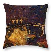Jazz Miles Davis  Throw Pillow