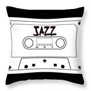 Jazz Music Tape Cassette Throw Pillow