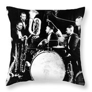 Jazz Musicians, C1925 Throw Pillow